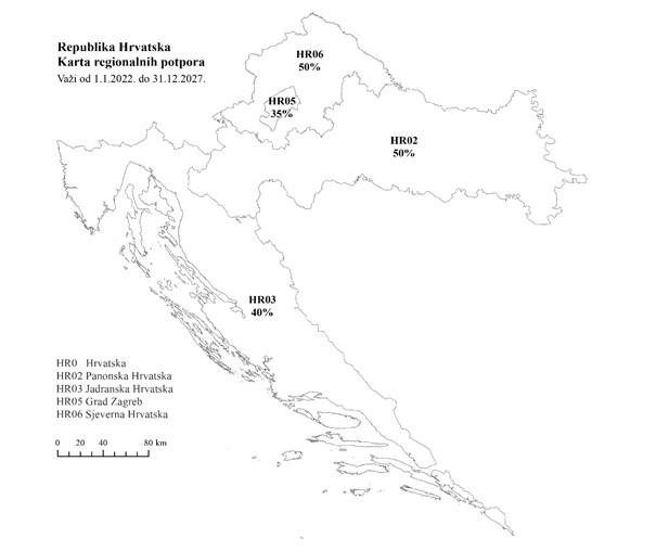Usvojena nova karta regionalnih potpora – u dvije regije potpore veće i za 25 posto!