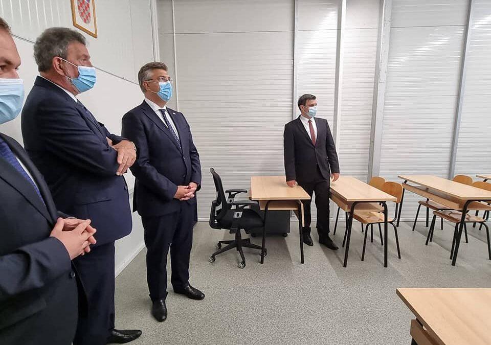 Sisačko-moslavačka županija: Modularni objekt Srednje škole Glina spreman za prihvat učenika